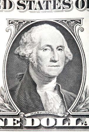 gravure: rotocalco di George Washington dettaglio da una vecchia banconota un dollaro