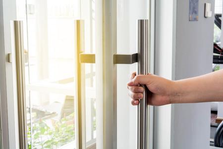 opening door: Opening the door and background , Handles