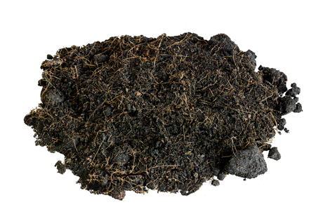 soil black isolate on white background