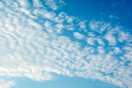 skylight: blue sky white cloud on air at daylight Stock Photo