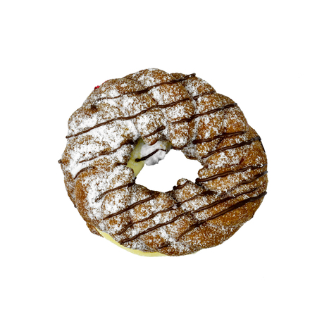 sweet donut isolated and white background with sugar bread