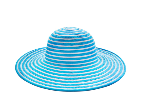 blue hat isolate and white background. vacation and holiday summer