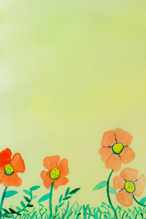 watercolor flower and wallpapper background