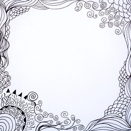 doodle line art fantasy with hand drawn sketch