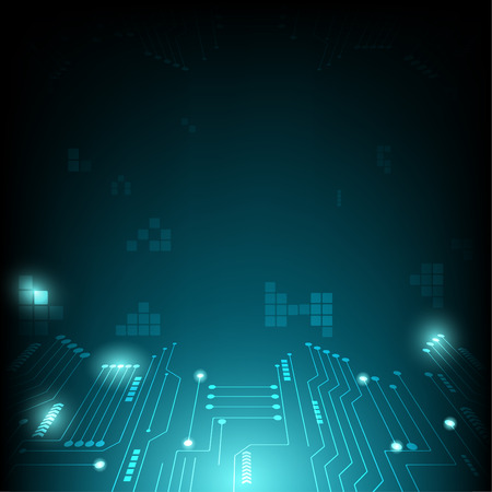 Technology digital abstract and background network concept Illustration