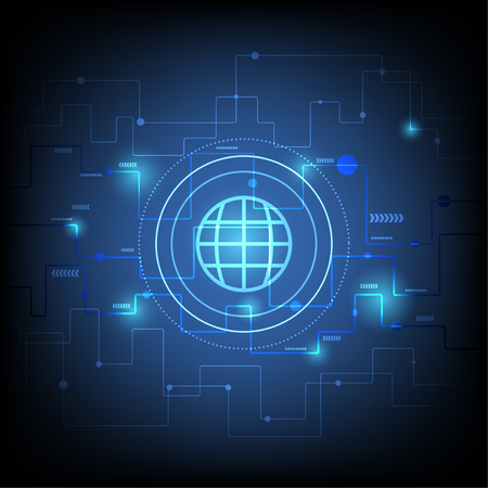 technology abstract and background network