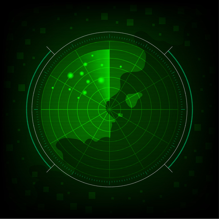 abstract green radar background and wallpaper vector