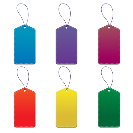 Product Tags white background and isolate mockup