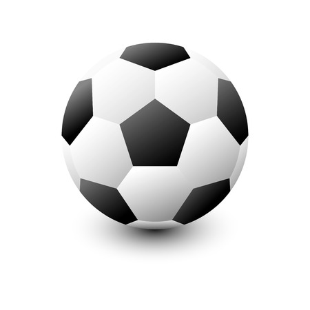 football isolate on white background with vector icon Illustration