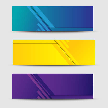 set banner template web with vector design