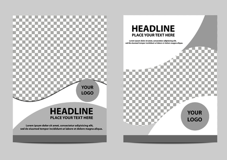 cover brochure template design black and white