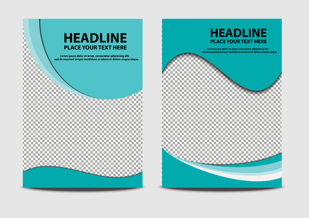 cover brochure template with vector design 向量圖像