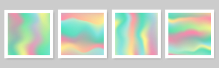abstract holographic foil texture with vector design.Blurred focus background  イラスト・ベクター素材