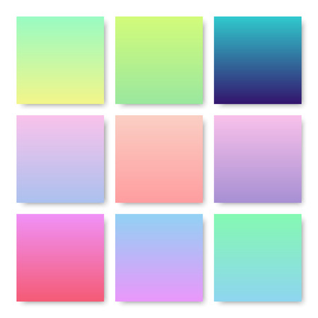 set color gradient bachground with vector design