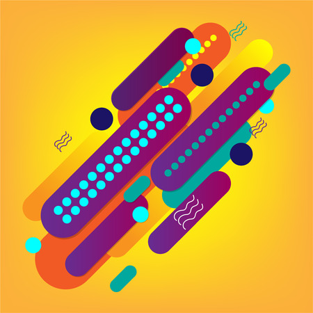 minimal abstract geometric with colorful background vector design