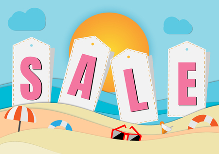 summer sale banner promotion with template vector design