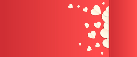 love valentine day background and red heart with vector design 向量圖像