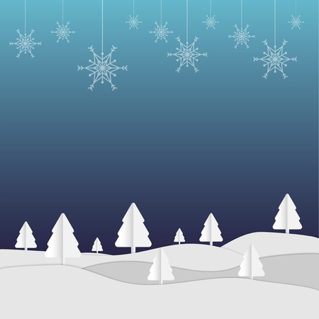 white paper christmas holiday with vector design