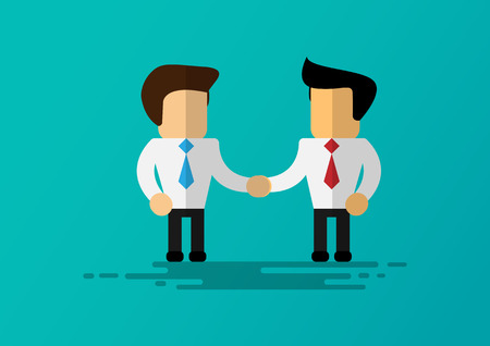 cartoon businessman shake hands for success with vector design 向量圖像