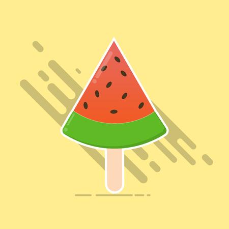 flat design ice cream watermelon summer with sweet food