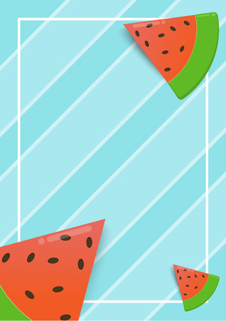 red watermelon blue and white background abstract with summer concept