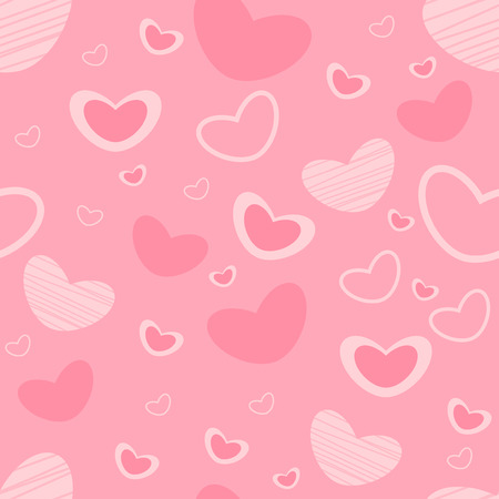 Heart pattern seamless background and holiday valentine day with vector design