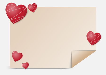 valentines day background and love heart design with Sweet girlfriend