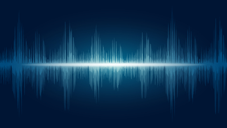 line soundwave abstract background with voice music technology Ilustração