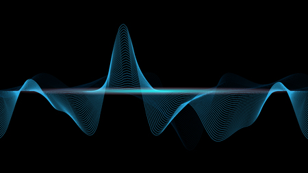 line soundwave abstract background with voice music technology  イラスト・ベクター素材
