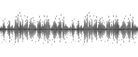 lijn soundwave abstracte achtergrond met stemmuziektechnologie