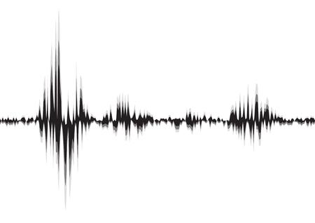 line soundwave abstract background with voice music technology Векторная Иллюстрация