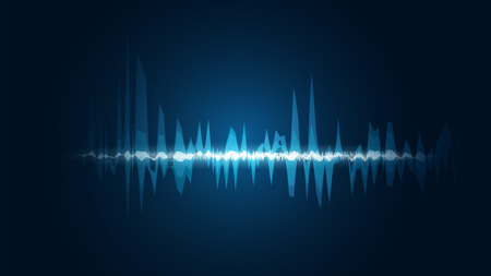 line soundwave abstract background with voice music technology