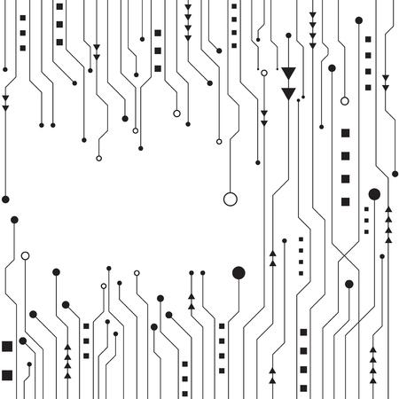Fondo blanco y geométrico de tecnología de alta tecnología con resumen de datos digitales