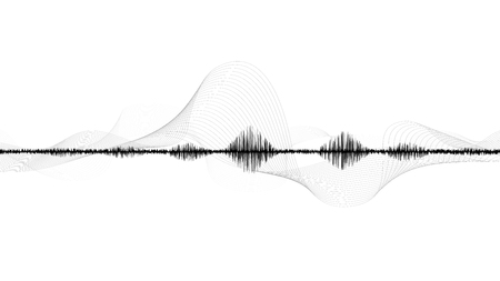 line soundwave abstract background with voice music technology Ilustrace