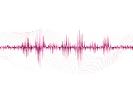 line soundwave abstract background with voice music technology Vektorgrafik