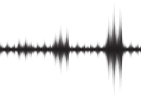 Línea de fondo abstracto de onda sonora con tecnología de música de voz
