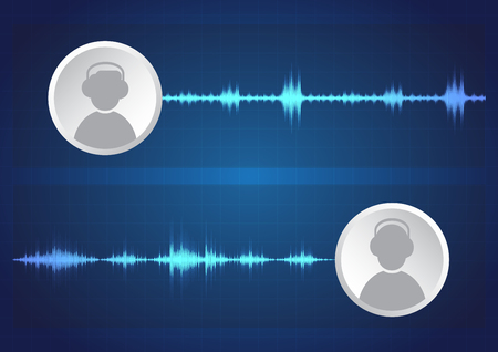 line soundwave abstract background with voice music technology.Communication of audio formats