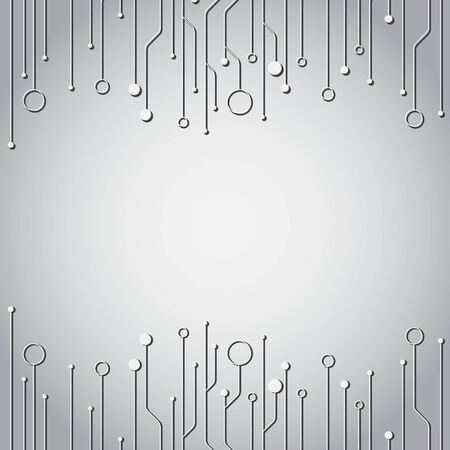 High tech technology geometric and connection system background with digital data abstract Ilustrace