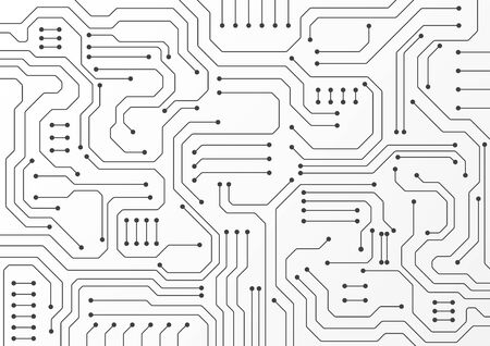 High tech technology geometric and connection system background with digital data abstract Vector Illustratie