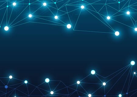 High tech technology geometric and connection system background with digital data abstract Reklamní fotografie - 132541731