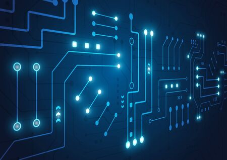 High tech technology geometric and connection system background with digital data abstract Archivio Fotografico - 132541575
