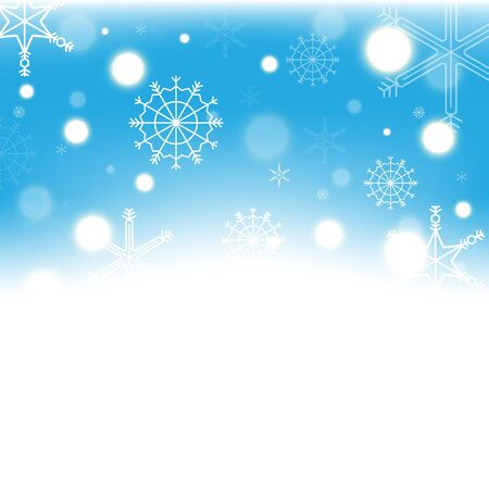 Christmas festival. snowflake blue sky background  and abstract   Ilustrace