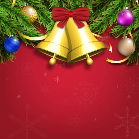 Winter Christmas season with holiday decorations.  space copy text and vector design Reklamní fotografie - 134585330