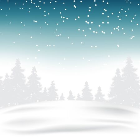 Winter Christmas season with holiday decorations.  space copy text and vector design Ilustrace