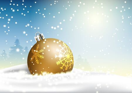 Winter Christmas season with holiday decorations.  space copy text and vector design Reklamní fotografie - 134585461