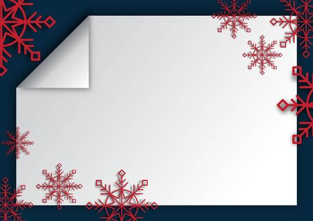 Winter Christmas season with holiday decorations. space copy text and vector design Reklamní fotografie - 134585484