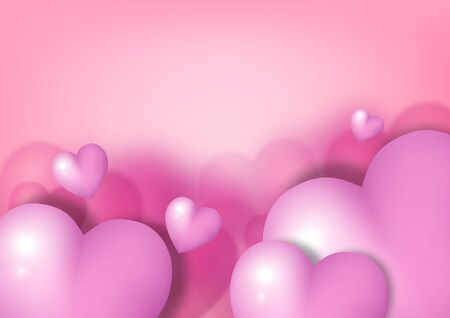 Valentine's day festival, love background and sweet hearts glittering, vector design Reklamní fotografie - 135095691