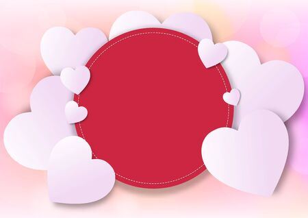 Valentine's day festival, love background and sweet hearts glittering, vector design Reklamní fotografie - 135095764