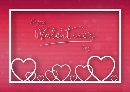 Valentine's day festival, love background and sweet hearts glittering, vector design Reklamní fotografie - 135587497