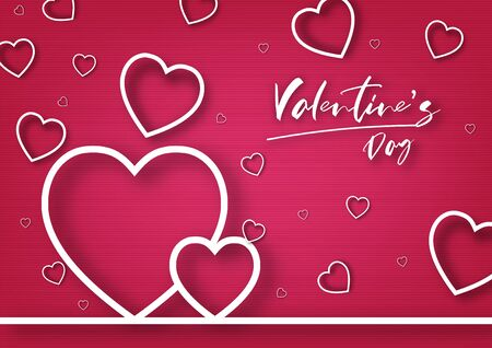Valentine's day festival, love background and sweet hearts glittering, vector design Reklamní fotografie - 135587879